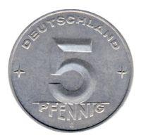 DDR 1952 J.1506 5 Pf Kursmünze Prägestätte: E vz-st