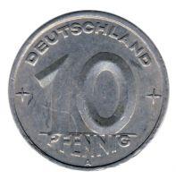 DDR 1948 J.1503 10 Pf Kursmünze vz