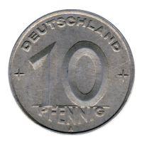 DDR 1949 J.1503 10 Pf Kursmünze st