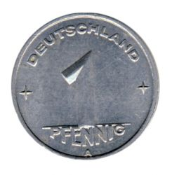 DDR 1949 J.1501 1 Pf Kursmünze Prägestätte: A vz