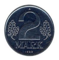 DDR 1983 J.1516 2 Mark Kursmünze st (Export)