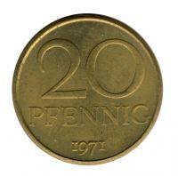 DDR 1971 J.1511a 20 Pf Kursmünze vz-st