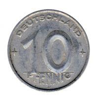 DDR 1952 J.1507 10 Pf Kursmünze Prägestätte: A ss