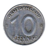 DDR 1948 J.1503 10 Pf Kursmünze ss