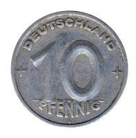 DDR 1949 J.1503 10 Pf Kursmünze ss