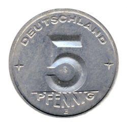 DDR 1953 J.1506 5 Pf Kursmünze Prägestätte: E vz