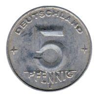 DDR 1952 J.1506 5 Pf Kursmünze Prägestätte: E vz