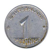 DDR 1949 J.1501 1 Pf Kursmünze Prägestätte: E ss