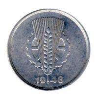 DDR 1948 J.1501 1 Pf Kursmünze Prägestätte: A vz