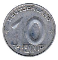 DDR 1953 J.1507 10 Pf Kursmünze Prägestätte: E ss