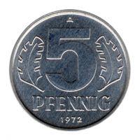 DDR 1972 J.1509 5 Pf Kursmünze st
