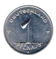 DDR 1948 J.1501 1 Pf Kursmünze Prägestätte: A vz-st