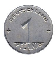 DDR 1950 J.1501 1 Pf Kursmünze Prägestätte: E vz