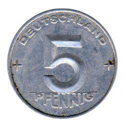 DDR 1952 J.1506 5 Pf Kursmünze Prägestätte: A ss