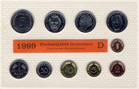 BRD 1999 Kursmünzensatz Prägestätte: D st