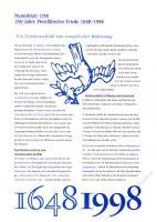 BRD 1998 Beschreibung für Numisblatt 1/1998 und 2/1998