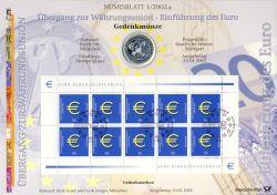 BRD 2002 Numisblatt 1/2002