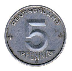 DDR 1952 J.1506 5 Pf Kursmünze Prägestätte: E ss