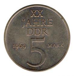 DDR 1969 J.1524 5 Mark 20 Jahre DDR vz