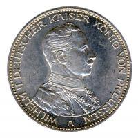 Preussen 1914 A J.113 3 Mark Wilhelm II. in Uniform (1888-1918) vz-st