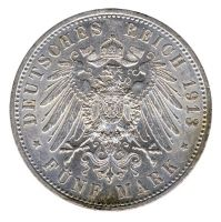Preussen 1913 A J.114 5 Mark Wilhelm II. in Uniform (1888-1918) vz