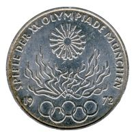 BRD 1972 J.405 10 DM Olympische Spiele - Prägestätte: D vz-st