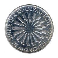 BRD 1972 J.401b 10 DM Olympische Spiele - Prägestätte: F vz-st
