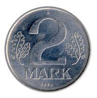 DDR 1975 J.1516 2 Mark Kursmünze vz-st