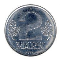 DDR 1977 J.1516 2 Mark Kursmünze vz-st