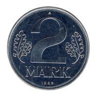DDR 1982 J.1516 2 Mark Kursmünze st (Export)