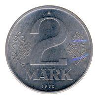 DDR 1982 J.1516 2 Mark Kursmünze vz-st