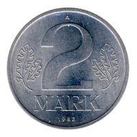 DDR 1982 J.1516 2 Mark Kursmünze st
