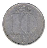 DDR 1981 J.1510 10 Pf Kursmünze vz-st