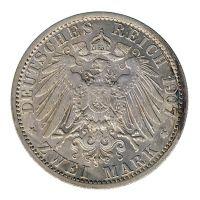 Preussen 1907 A J.102 2 Mark Wilhelm II. (1888-1918) ss