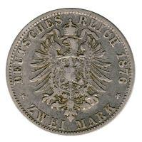 Hamburg 1876 J J.61 2 Mark Stadtwappen ss