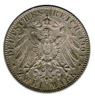 Sachsen 1904 E J.132 2 Mark Georg (1902-1904) Auf seinen Tod st