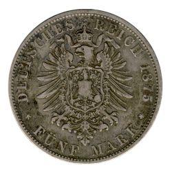 Bayern 1875 D J.42 5 Mark Ludwig II. (1864-1886) ss