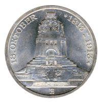 Sachsen 1913 E J.140 3 Mark 100 Jahre Völkerschlacht st