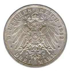 Preussen 1912 A J.103 3 Mark Wilhelm II. (1888-1918) vz-st