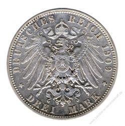 Sachsen 1909 E J.135 3 Mark Friedrich August III. (1904-1918) ss