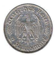 Drittes Reich 1934 F J.358 2 Reichsmark Friedrich Schiller ss