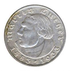 Drittes Reich 1933 A J.352 2 Reichsmark Martin Luther vz