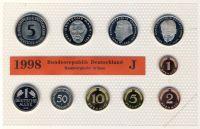 BRD 1998 Kursmünzensatz Prägestätte: J st