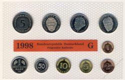 BRD 1998 Kursmünzensatz Prägestätte: G st