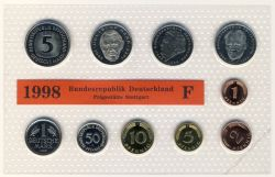 BRD 1998 Kursmünzensatz Prägestätte: F st