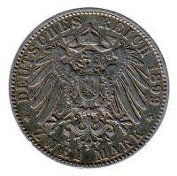 Preussen 1899 A J.102 2 Mark Wilhelm II. (1888-1918) ss