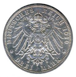 Preussen 1910 A J.103 3 Mark Wilhelm II. (1888-1918) vz