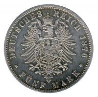 Preussen 1876 B J.97 5 Mark Wilhelm I. (1861-1888) ss