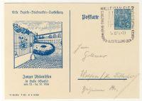 DDR Nr. PP005 D2/002b SSt. 1. Briefmarkenausstellung in Halle