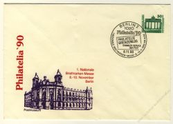 DDR Nr. PU017 D2/001a SSt. Philatelia '90 Postmuseum